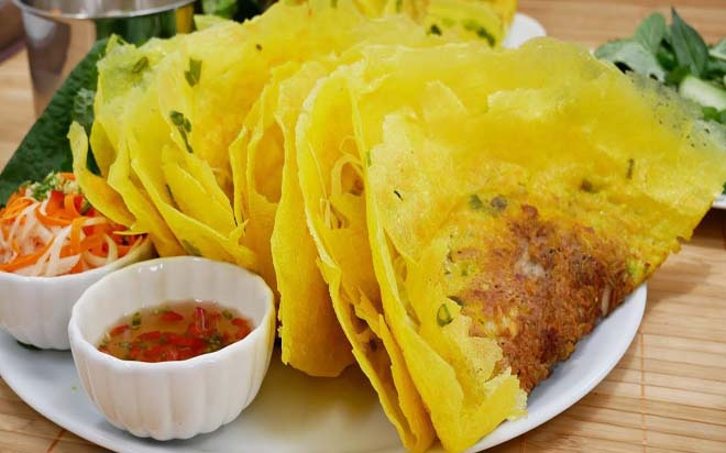 Crispy Vietnamese pancakem